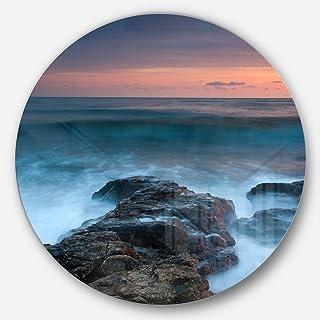 Designart MT10376-C23 Metal Wall Art Disc of 23 inch, 23X23-Disc, Blue