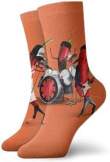 tyui7, Calcetines de compresión antideslizantes divertidos de Hot Chili de dibujos animados Calcetines deportivos de 30 cm acogedores para hombres, mujeres y niños