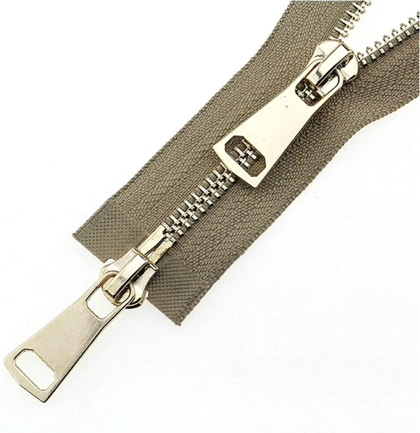 Lieber Lighting Decorative Zipper Double Sliders Auto Lock Metal