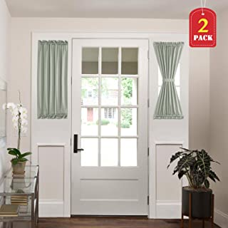 H.VERSAILTEX Patio Door Curtain Panels Window Treatment Room Darkening French Door Curtains Window Curtain 2 Panels (25