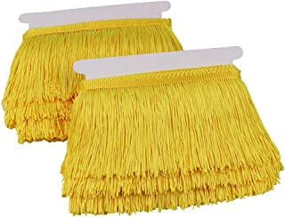 Heartwish268 Fringe Trim Lace Polyester Fibre Tassel 4inch Wide 10 Yards Long for Clothes Accessories Latin Wedding Dress DIY Lamp Shade Decoration Black (Yellow)