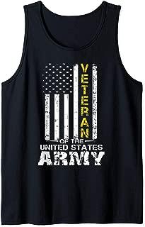 Veteran of United States US Army veteran t-shirt Gold Tank Top