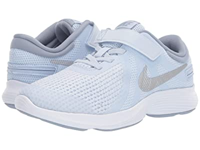 Nike Kids FlyEase Revolution 4 Wide (Big Kid) (Half Blue/Metallic Silver/Obsidian Mist) Boys Shoes