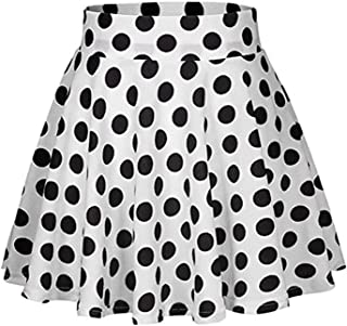 Fashion Party Cocktail Summer Women Dot Printed Skirt High Waist Midi Skirt Red,Black,White Colors