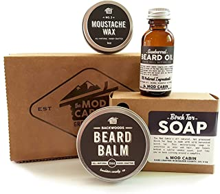 Core Beard Kit - Wood & Smoke Combo - All Natural, Hand Crafted in USA