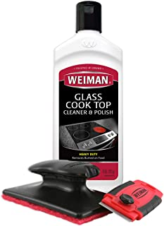 Weiman Cooktop Cleaner Kit – Cook Top Cleaner and Polish 10 oz. Scrubbing Pad,..