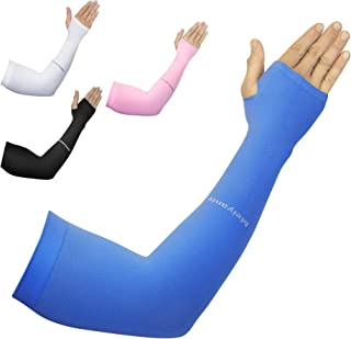 Meiyante Arm Sleeves for Men or Women (1 Pair) - Compression Warmers to Cover Tattoo - Golf Football Cycling Sun Protection