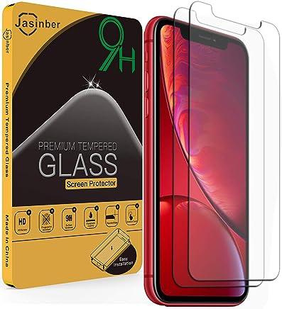 Jasinber 2-Pack Mica de Vidrio Cristal Templado para iPhone XR (6.1 Pulgadas)
