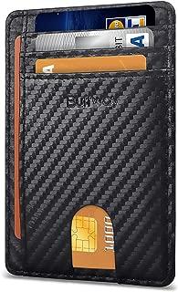 Slim Minimalist Front Pocket RFID Blocking Leather Wallets for Men Women