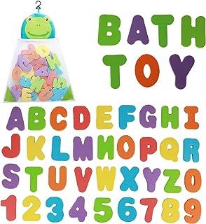 Funsland Bath Toys Organizer 36 نامه نرم فوم ABC 123