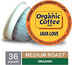 The Organic Coffee Co. OneCup, Java Love, Single Serve Coffee K-Cup Pods (36 Count), Keurig Compatible