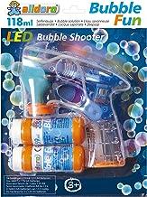 alldoro- Bubble Fun - Pistola de pompas de jabón (LED, con 2 x 59 ml, con Efecto de luz y Sonido) (Manfred Roser 60625)