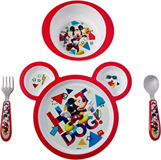 The First Years Disney Baby Mickey Mouse Feeding Set, 4 Pieces