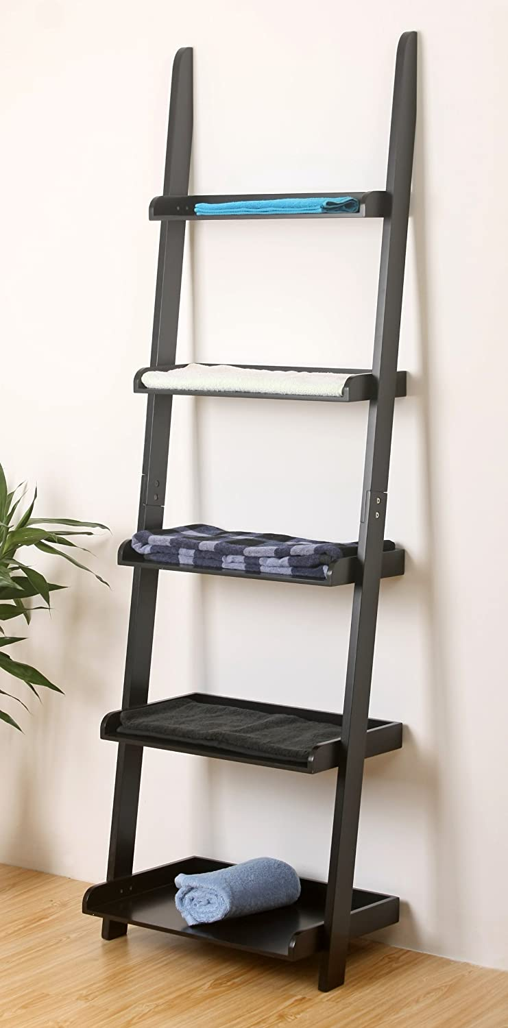 HOME BASICS 5G Imports 5-Tier Book Case, Black
