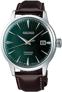 Seiko Men's Presage Green Dial Leather Strap SRPD37