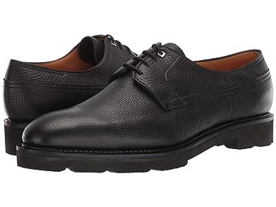 John Lobb Croft Pebble Grain Leather Derby w/ Walking Sole (Black) Men