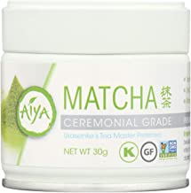 Aiya Ceremonial Matcha Tea, 30 gram container, Pack of 6 Containers, No Artificial Ingredients Dairy Free GMO Free Kosher Vegan