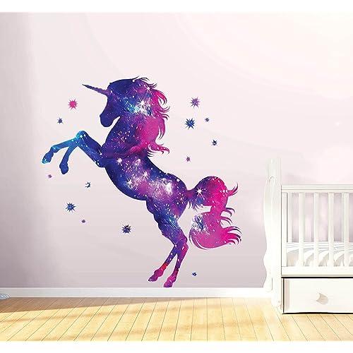 Unicorn Children/'s Wall Art Balloon Stickers 2 Colourful