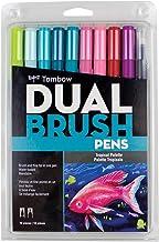Tombow 56189 Dual Brush Pen Art Marker, Tropical (Set of 10)