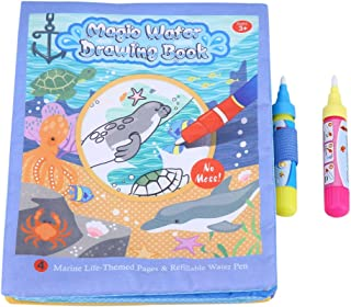 Zerodis Eau Dessin livre, bébé enfants Magic Coloration de l'eau réutilisables Chiffon de peinture livre Tapis avec stylo ...