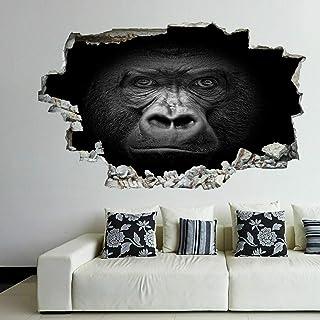 Gorila Animal de la Selva Pegatina de Pared Autoadhesivo Removible Autocolante Decorativo Sticker Vinil Wall Decal M1092 (Mediano: 76 cm x 45 cm)