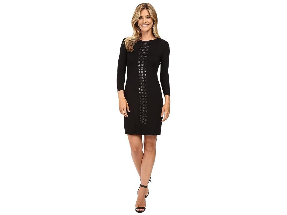 Karen Kane Embellished Sheath Dress (Black) Women