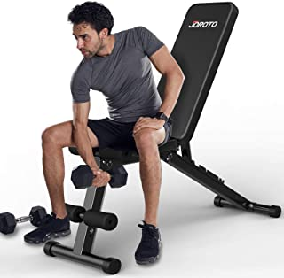 JOROTO Adjustable Weight Bench Multi-purpose Foldable Incline Decline workout exercise Bench,650 LBS Capacity 7in 1 Streng...