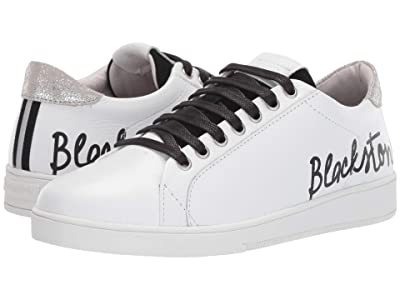 Blackstone Low Sneaker Script RL86 (White/Black) Women