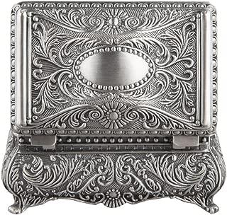 Ornate Rectangular Box in Antique Finish