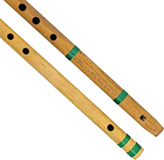 Buycrafty Bansuri - Juego de 2 flautas indias de bambú para principiantes de Navidad