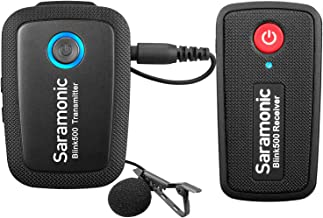 New 2.4GHz Wireless Microphone System for Camera Smartphones, Saramonic Blink500 Ultracompact Dual-channel Mic for DSLR, Mirrorless and Video Cameras, Mobile Devices Youtube Facebook Live (TRS & TRRS)