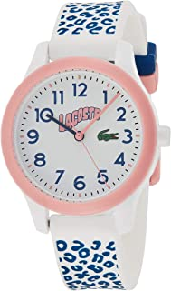 Lacoste Unisex-Child White Dial White & Blue Silicone Watch - 2030025