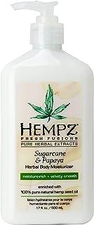 Hempz Herbal Body Moisturizer, Sugarcane & Papaya, 17 Ounce