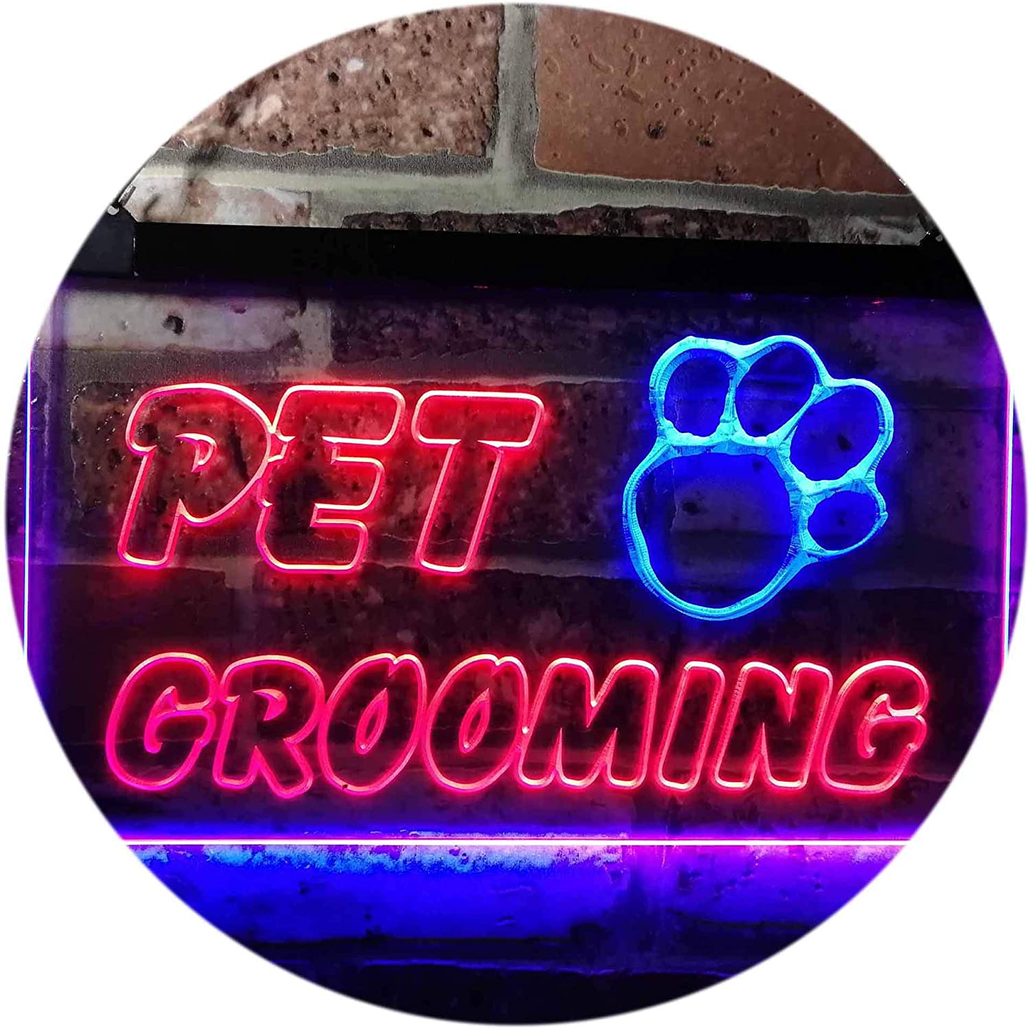 ADVPRO Pet Grooming Shop Dog Be super Super beauty product restock quality top! welcome Cat Vet Neon Color LED Dual Sign Bl