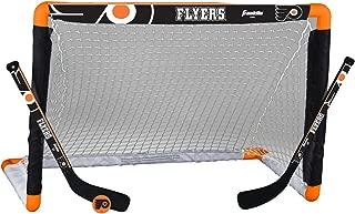 Franklin Sports NHL Team Licensed Mini Hockey Knee Hockey Goal, Ball & 2 Stick Combo Set - 28