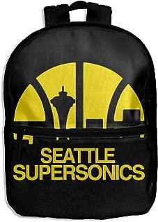 Kids Backpack, Seattle Supersonics School Bags For Children Kids Shoulder Bag For Boys Girls