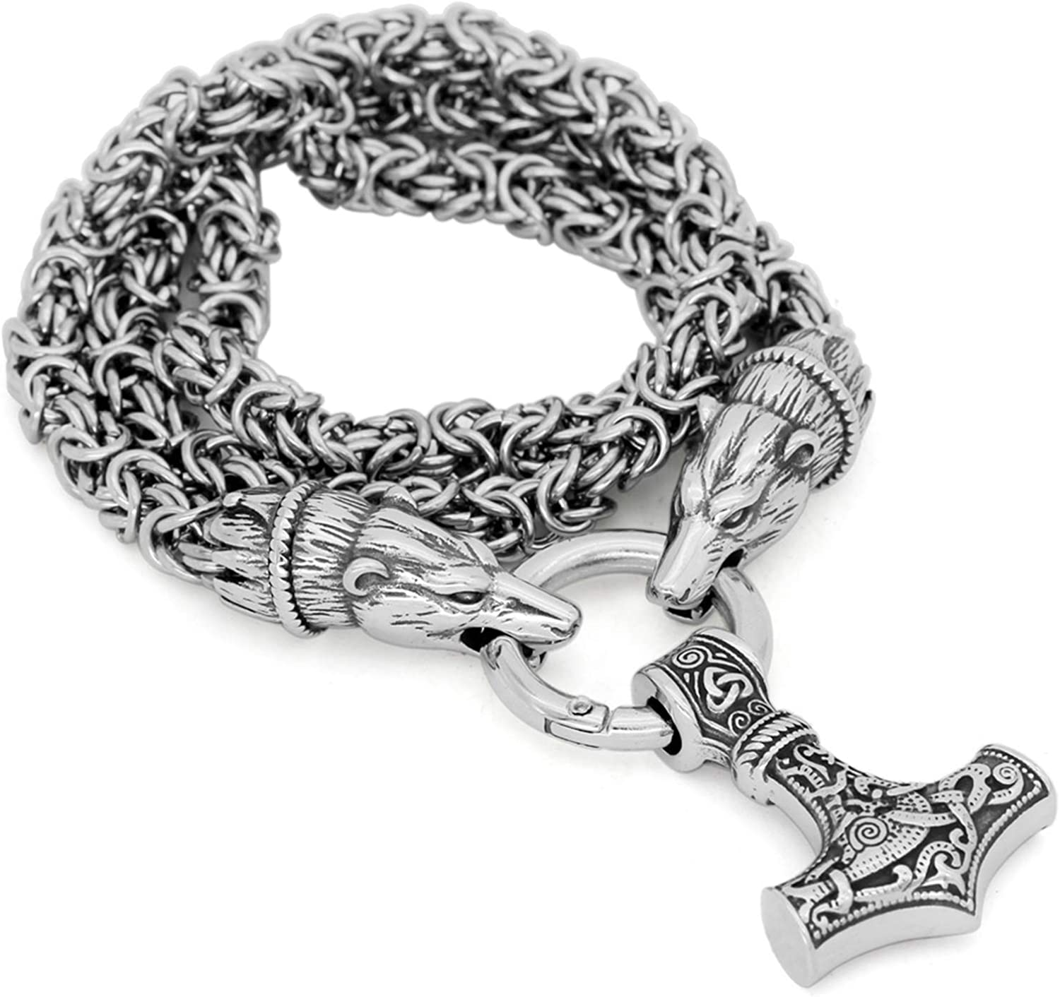 GuoShuang Men Stainless Steel Bear Pend Norse Amulet Viking 5 ☆ very Max 40% OFF popular Head