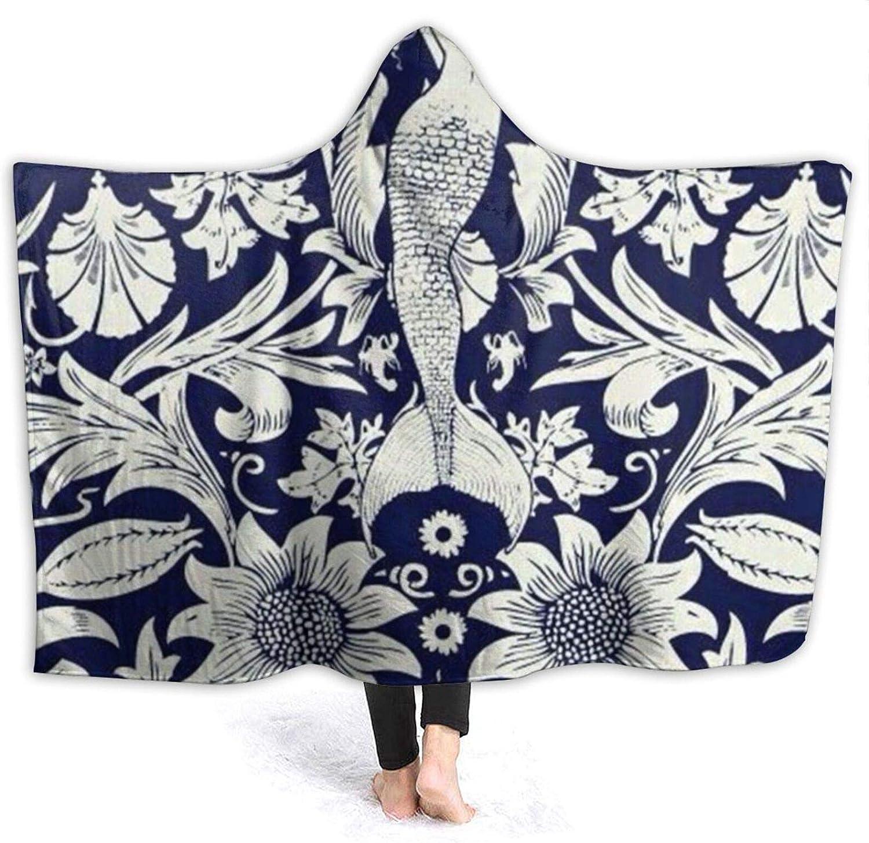 希望者のみラッピング無料 Blanket for Girls Hooded Kids Hood Throw Wearable Mermaid Floral 全品最安値に挑戦