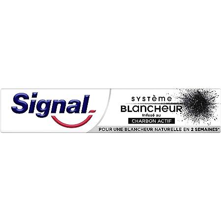 Signal Dentifrice blancheur Charbon Actif, Blancheur naturelle, Nettoie et Purifie, élimine les tâches 75ml