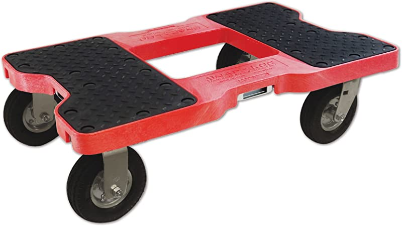 SNAP LOC AIR Ride Dolly RED USA With 1500 Lb Capacity Steel Frame 6 Inch Casters And Optional E Strap Attachment