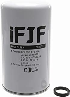 iFJF BF7633 Spin-on Fuel Filter for Caterpillar 1R-0750 Duramax 6.6L 2001-2016 Chevrolet/GMC Replaces FF5320 P551313 33528 FF3003