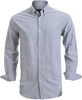 Double Pump Mens Button Down Shirts 100% Cotton Long Sleeve Shirts Regular Fit
