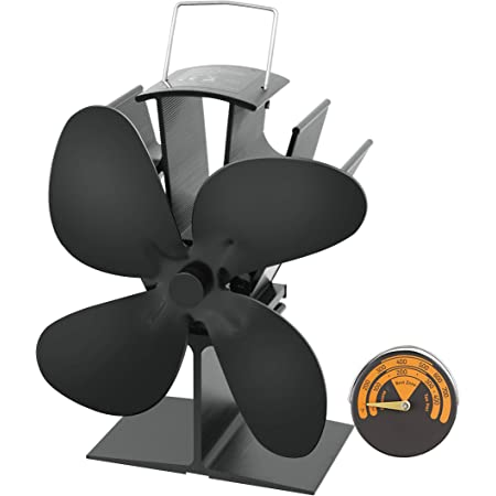 4 Blade Cocoon Fan Heat Powered Stove Fan for Wood Eco Heater Tool