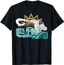 Disney Moana Maui Hook Surf and Sun Gradient Graphic T-Shirt