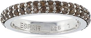 Esprit Women's Ring 925 Sterling Silver 54 ESRG91667D Zirconia elegance smoky Grey brown