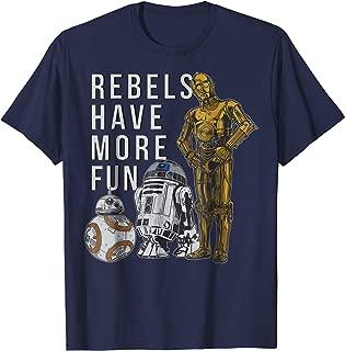 Star Wars Last Jedi Droids Rebels Have More Fun Gold T-Shirt