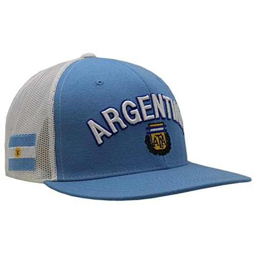 d182f1138f2 Argentina National Football Team Blue Mesh Snapback Cap