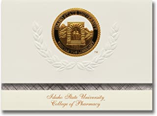 Signature Announcements Idaho State University College of Pharmacy Graduation Announcements, Platinum style, Elite Pack 20 with Idaho State U.-Pharmacy Seal Foil