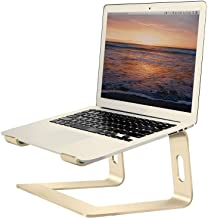 Soundance Laptop Stand, Aluminum Computer Riser, Ergonomic Laptops Elevator for Desk, Metal Holder Compatible with 10 to 15.6 Inches Notebook Computer, Rose Gold