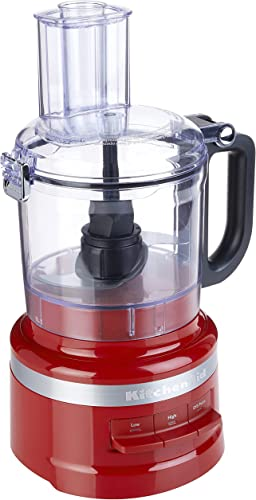 lowest KitchenAid KFP0718ER 7-Cup Food Processor Chop, Puree, Shred outlet sale and Slice - Empire 2021 Red outlet online sale